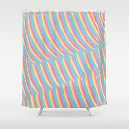 Rainbow Stripes 7 Shower Curtain