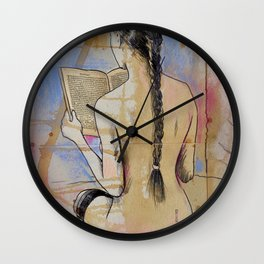 SHE READS Wall Clock
