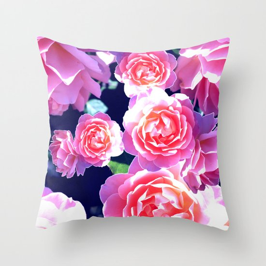 Floribunda Throw Pillow
