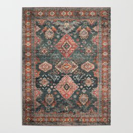 N255 - Vintage Oriental Old Traditional Boho Moroccan Fabric Style Poster