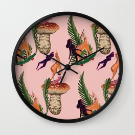 Deer to skate Wall Clock