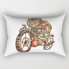 Berserk Steampunk Motorcycle Cat Rectangular Pillow