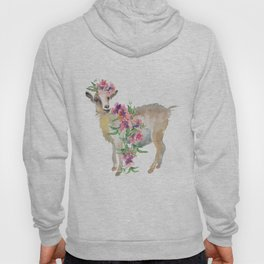 goat with flower crown Hoody