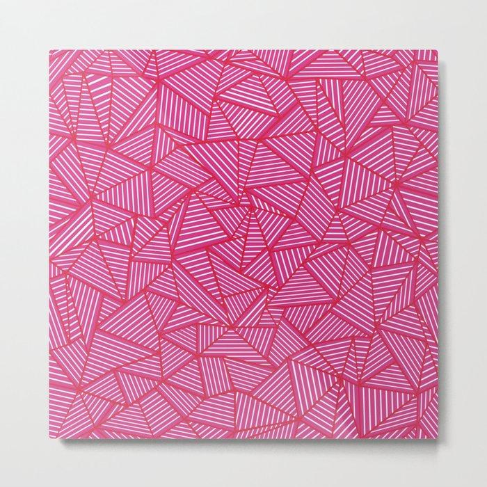 Ab Linear Hot Pink Metal Print
