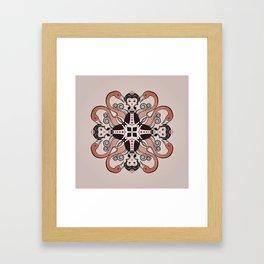 Queen of Hearts mandala Framed Art Print