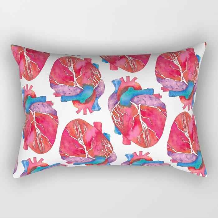 Anatomical Heart Rectangular Pillow