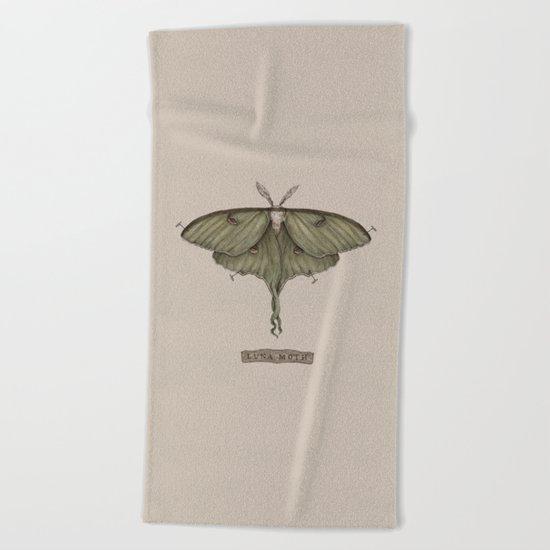 Luna Moth Beach Towel