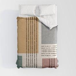 Modern Geo Design  Comforters