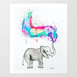 Spray of colour! Art Print