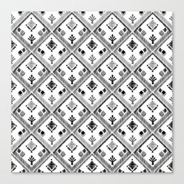 Abstract ethnic ornament. White background 4. Canvas Print