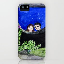 The Well of Wishes, an illustration by Ines Zgonc iPhone Case
