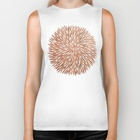 rose gold Biker Tanks featuring Rose Gold Burst by Cat Coquillette