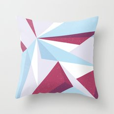 Maroon & sky  Throw Pillow