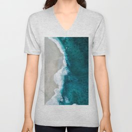 Ocean Divide Turquoise Sea Unisex V-Neck