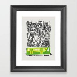 Dublin Cityscape Framed Art Print