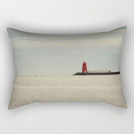 Red Lighthouse Rectangular Pillow