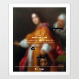 Judith content Art Print