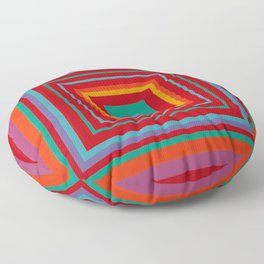 """""""Candy Apples""""  Op art Floor Pillow"""