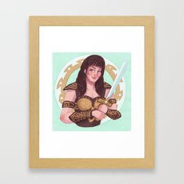 xena warrior princess Framed Art Print
