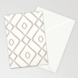 Modern Boho Ogee in Cream Stationery Cards