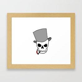 Smokin´ Skull Framed Art Print