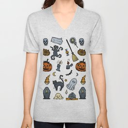 Halloween Party  Color Unisex V-Neck