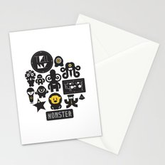 Monster Type Stationery Cards
