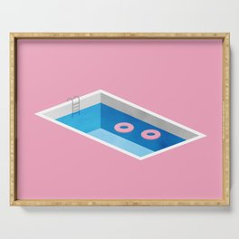 lonely pool Serving Tray