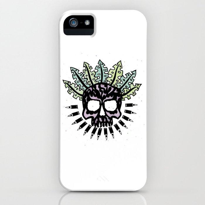 Jungle Bullet Skull iPhone Case