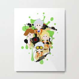 Miami's Ghostbusters (Golden Girls / Ghostbusters Mash-Up) Metal Print