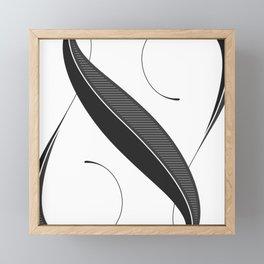 Letter N - Script Lettering Cropped Design Framed Mini Art Print