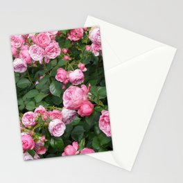 Botanical organic bright pink green nature roses flowers photo Stationery Cards
