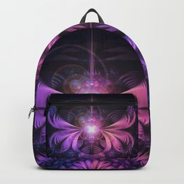 A Glowmoth of Resplendent Violet Feathered Wings Backpack