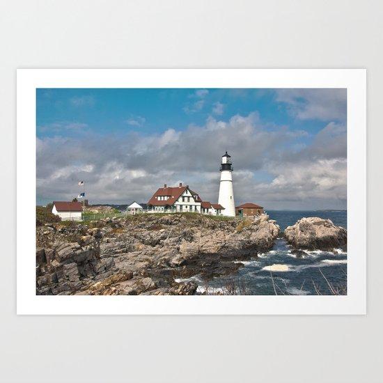 Port Head Lighthouse Art Print