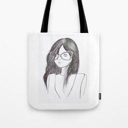 Elle in Glasses Tote Bag