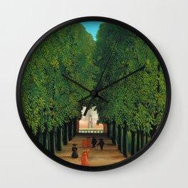Henri Rousseau - Avenue in the Park at Saint Cloud Wall Clock