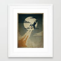 dreamer Framed Art Prints featuring Night Launch by Danny Haas
