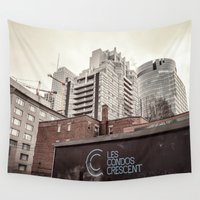 montreal Wall Tapestries featuring Montreal -Alley by Doug Dugas