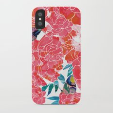 Peonies Slim Case iPhone X