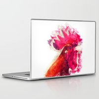 rooster Laptop & iPad Skins featuring Rooster by jbjart