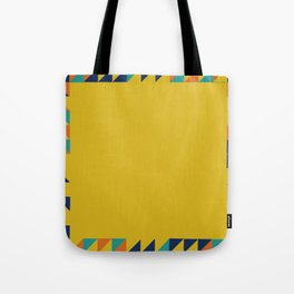 Geometric Square Border Pattern Tote Bag