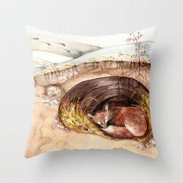 Fox's Den Throw Pillow