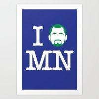 I (Kevin) Love MN! Art Print