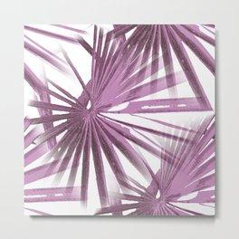 Lilac on White Tropical Vibes  Beach Palmtree Vector Metal Print
