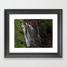 Aros Park Waterfall Framed Art Print