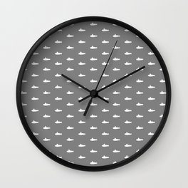 Tiny Subs - Gray Wall Clock