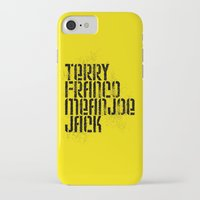 steelers iPhone & iPod Cases featuring Terry Franco Mean Joe Jack / Gold by Brian Walker
