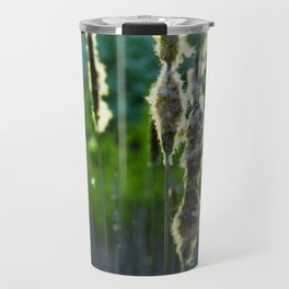 Scraggly Cat-Tails at Sunset Travel Mug