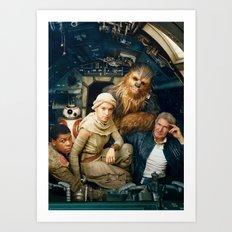 Starwars F.A. Group Art Print
