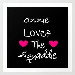 Doctor Who Ozzie Loves The Squaddie Art Print
